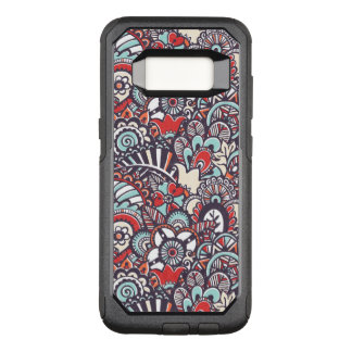 Paisley Floral Doodle Pattern OtterBox Commuter Samsung Galaxy S8 Case