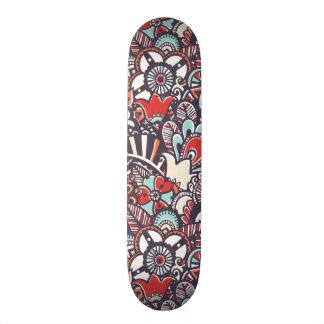 Paisley Floral Doodle Pattern Skate Deck