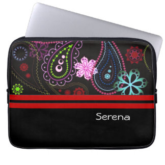 Paisley Glow Neoprene Laptop Sleeve