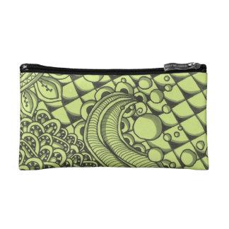 Paisley Green Cosmetic Bag
