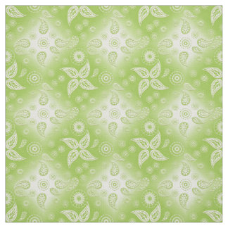 Paisley green summer pattern. fabric