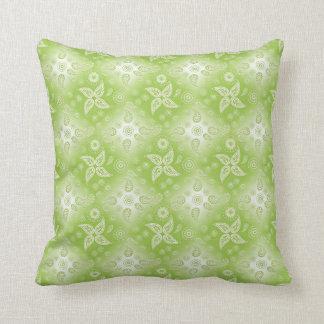 Paisley green summer pattern. throw pillow