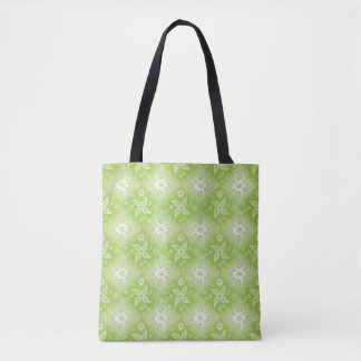 Paisley green summer pattern. tote bag