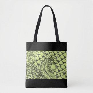 Paisley Green Tote Bag