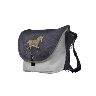 Paisley Horse Messenger Bag
