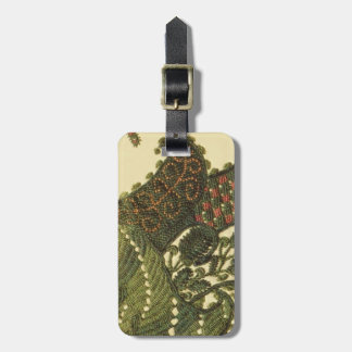 Paisley In Green Luggage Tag