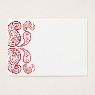 Paisley in orange and pink - middle eastern design business card