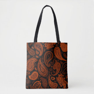 Paisley in Rust Designer Tote by Julie Everhart