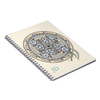 Paisley Mandala Monogram Notebook