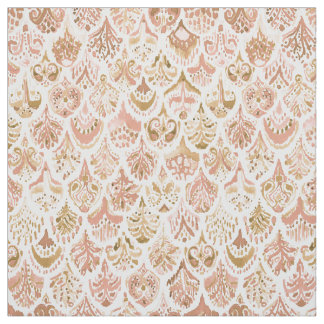 PAISLEY MERMAID Rose Gold Fish Scales Fabric