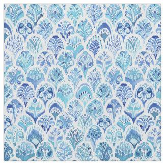 PAISLEY MERMAID Watercolor Scale Pattern Fabric