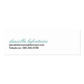 Paisley Mini-Calling Cards Mini Business Card