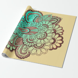 Paisley Ornaments I + your backgr. & ideas Wrapping Paper
