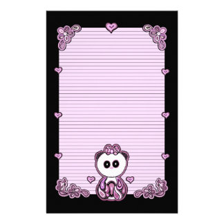 Paisley Panda Paper Customized Stationery
