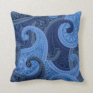 Paisley Paradise in Ocean Pillow