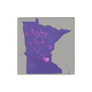 Paisley Park is in my heart Stone Magnets