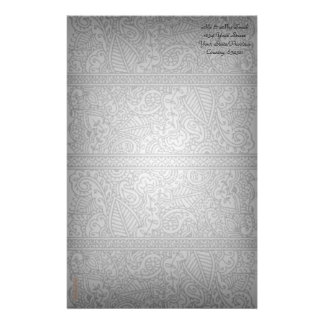 Paisley Passion - Black (Henna) Stationery