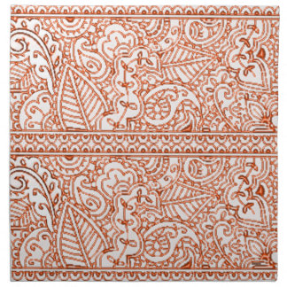 Paisley Passion - Orange (Henna) Napkin