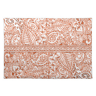 Paisley Passion - Orange (Henna) Placemat