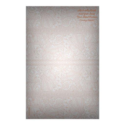 Paisley Passion - Orange (Henna) Stationery Paper