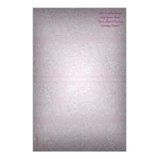 Paisley Passion - Pink (Henna) Personalized Stationery