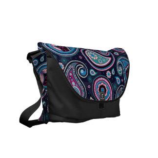 Paisley Patern blue, teal, violet elegant Commuter Bag