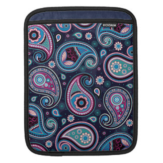 Paisley Patern blue, teal, violet elegant iPad Sleeves