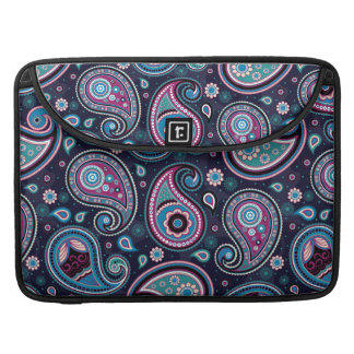 Paisley Patern blue, teal, violet elegant Sleeve For MacBooks