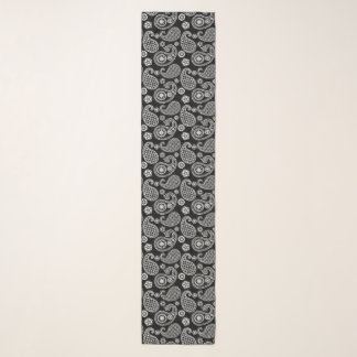 Paisley pattern, Black and White Scarf