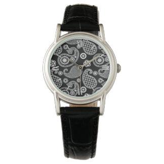 Paisley pattern, Black and White Watch