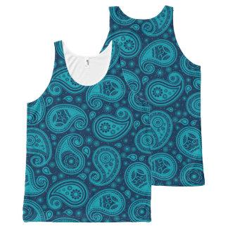 Paisley pattern blue elegant