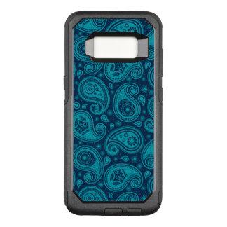 Paisley pattern blue elegant OtterBox commuter samsung galaxy s8 case