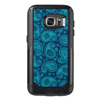 Paisley pattern blue elegant OtterBox samsung galaxy s7 case
