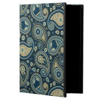 Paisley pattern blue teal gold elegant powis iPad air 2 case