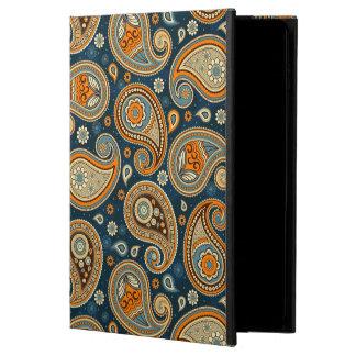 Paisley pattern blue teal orange elegant