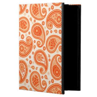 Paisley pattern bright orange elegant