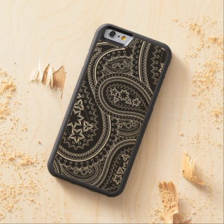 Paisley Pattern Carved Maple iPhone 6 Bumper Case