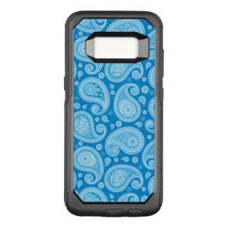 Paisley pattern clean blue elegant OtterBox commuter samsung galaxy s8 case