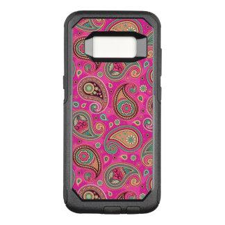 Paisley pattern cute girly pink elegant OtterBox commuter samsung galaxy s8 case