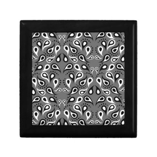 Paisley Pattern Design Print Black Gift Box