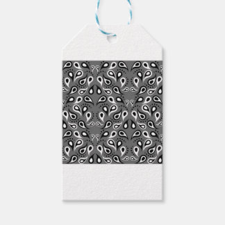 Paisley Pattern Design Print Black Gift Tags