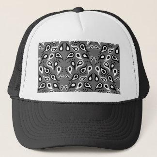 Paisley Pattern Design Print Black Trucker Hat