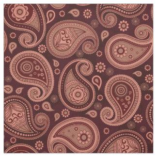 Paisley pattern elegant brown color fabric