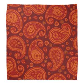 Paisley pattern maroon red elegant bandana