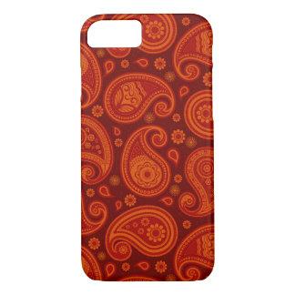 Paisley pattern maroon red elegant iPhone 8/7 case