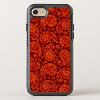 Paisley pattern maroon red elegant OtterBox symmetry iPhone 8/7 case