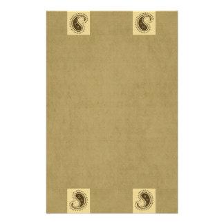 Paisley Pattern Personalized Stationery