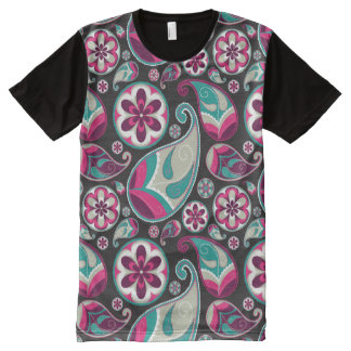 Paisley Pattern Pink and Teal