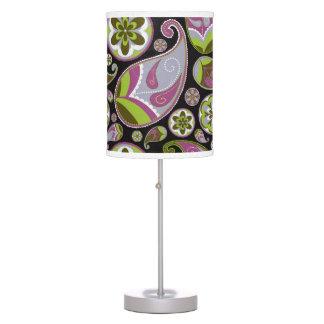 Paisley Pattern Purple Green Desk Lamps