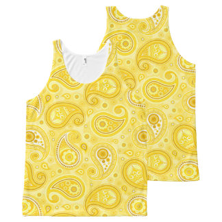 Paisley pattern yellow elegant